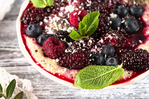 Raspberry Amaranth Muesli